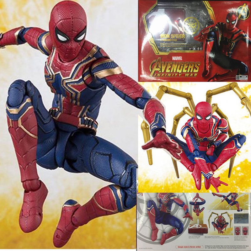 Movie Avengers 3 Infinity War Iron Spider Man Tamashll Stage Spiderman PVC Action Figure Model Toy Doll Gift