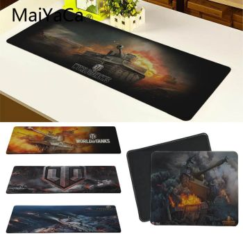 цена на MaiYaCa World of Tanks Mouse Pad pad to Mouse Notbook Computer Mousepad Overlock Edge Big Gaming Pad Overlock Edge Mouse Pad