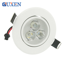 Dimmable3X3W 9W 4X3W 12W Led downlight Led Recessed lamp Led Bulb 95 265V led light with led driver