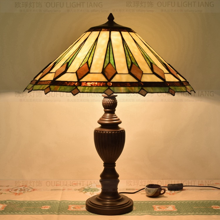56CM Tiffany style table lamp stained glass art glass living room restaurant bar lamp