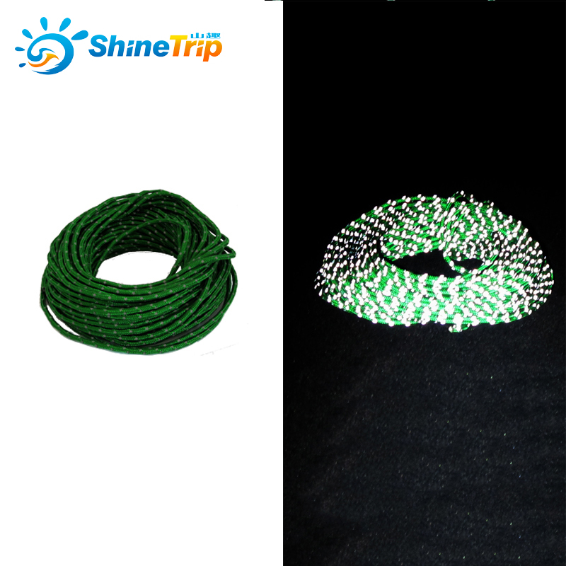 2.5mm Reflective Paracord Tent wind rope multifunctional Bold Tent fixed rope Reflective clothesline Multipurpose rope 50 Feet outdoor multifunctional tent fixed clamp