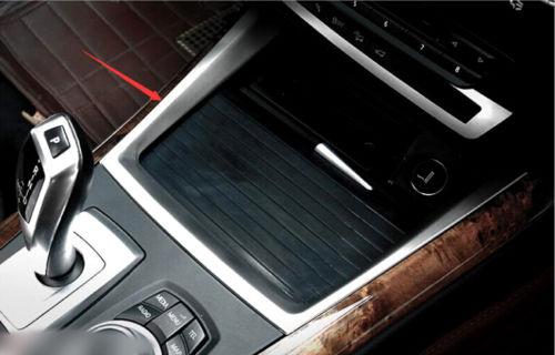 Pour BMW X5 E70 2008 2009 2010 2011 2012 2013 D'eau En Acier inoxydable support de verre Décoration Garniture 1 pièces RedBlueSilver