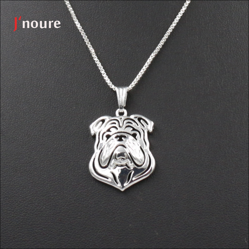 Jnoure Fashion jewelry of English Bulldog dog pet pendant neckaces for Men/Women/lover Gift Jewellery wholesale A246
