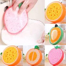 Креативная плотная губчатая ткань с фруктами, сильная обеззараживание, моющее полотенце, антипригарная масляная губка, товары для кухни BH024