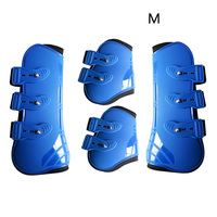 Riding Durable Adjustable Horse Leg Boots Front Hind PU Leather Guard Practical Outdoor Farm Equestrian Protection Wrap Brace
