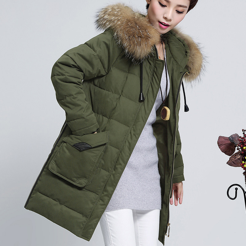 Winter And Autumn Parka For Women Plus Size 4Xl 5Xl With Fur Hood Female Loose Coats Thicken Warm Winter Jackets A3365 2016 new mori girl national trend loose plus size with a hood denim autumn and winter women medium long plus cotton thick vest