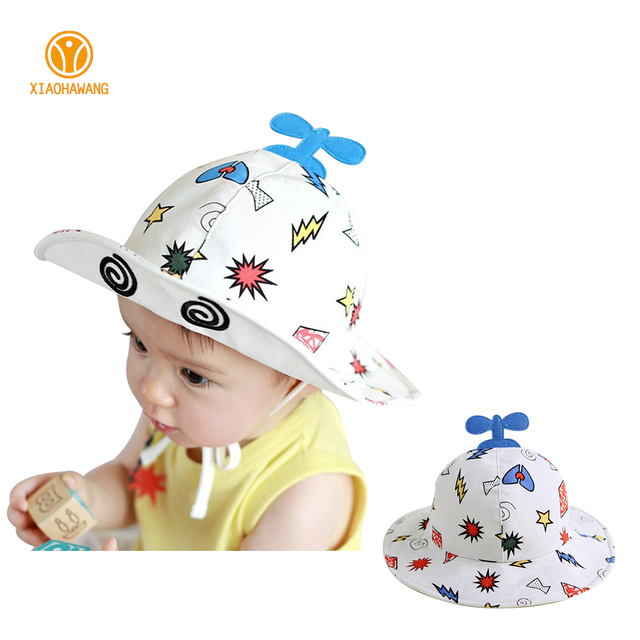 033380b9cb6 Lightning Print Baby Hat Cotton Baby Sun Hat With Ear Cute Summer Boys  Girls Caps Lace Up Kids Bucket Hat 2017 Baby Accessories