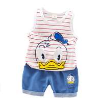 Hot Sales Kids Clothes Summer Baby Boys Clothing Set Vest Tank Top Jeans Toddler Boys Clothing
