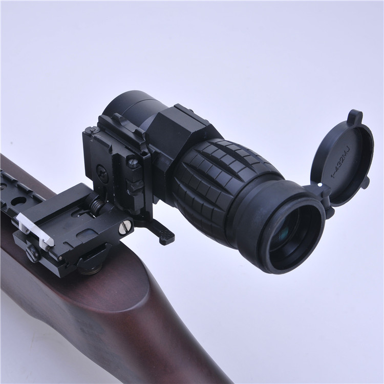 Tactical Magnifier Airsoft Rifle Scope 3X Magnifier Scope Focus Adjusted With Flip Up Mount For Shooting