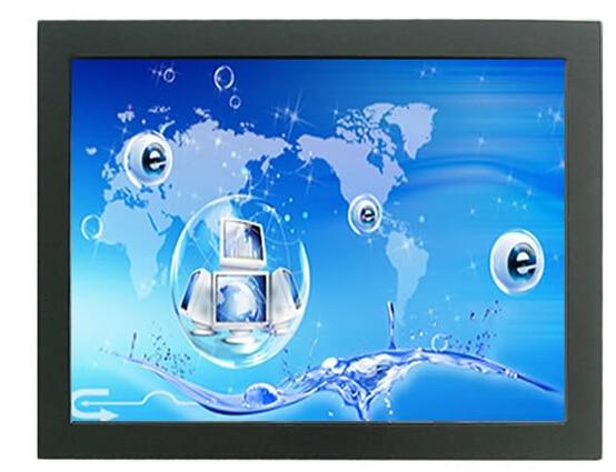 Com vga, Dvi, Entrada AV 26 polegada TFT Monitor LCD de tela de toque industrial quadro aberto transporte rápido