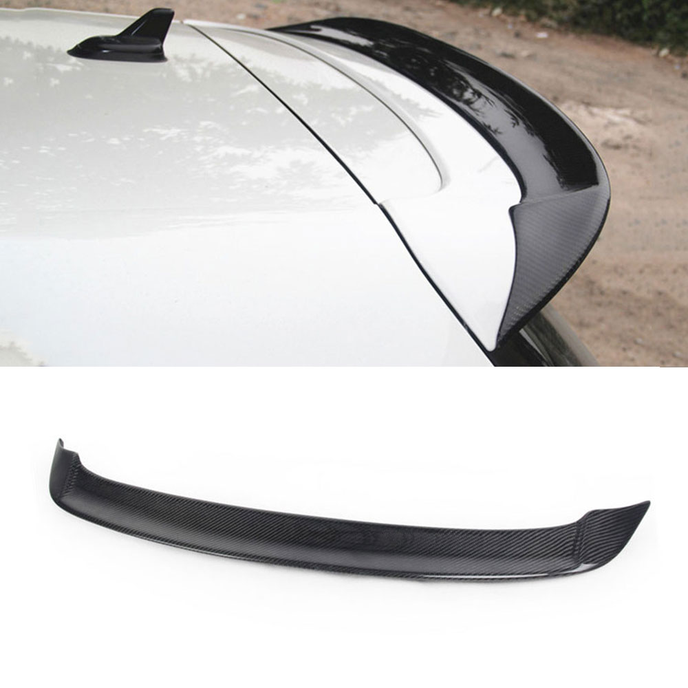 Rear Roof Spoiler Wing Lip Sticker for VW Volkswagen Golf 6 MK6 VI GTI R20 2010 2013 RZ Style Carbon Fiber Car Sticker