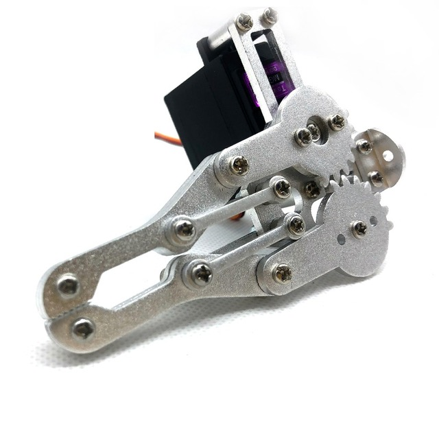 US $9 95  Alloy Mechanical Claw,Gripper,compatible with MG996r etc   Standard Servo,robot parts for DIY,Education,Experiment robotic hand-in  Parts &