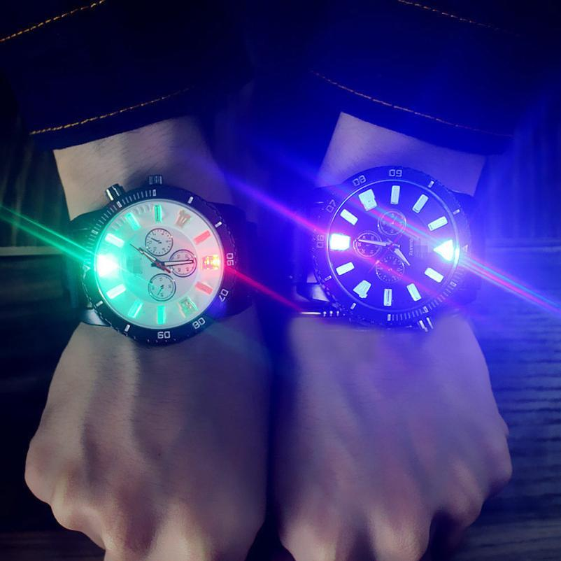 Couple Watch Men Cool LED Reloj Analog Quartz Masculino Backlight title=