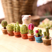 Cartoon Artificial Plants succulents Mini potted bonsai Living room desk face fake green plant decoration ornaments 7pcs AQ111