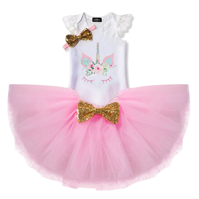 d9cb93f67302b US $9.85 |New Born Baby Girl Dress Princess Baby Dresses for Girls Toddler  1 2 Years Birthday Unicorn Party Outfit Summer Infant Clothing -in Dresses  ...