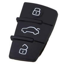 цена на 3 Button Replacement Pad Rubber Remote Key Fob for Audi A3 A4 A5 A6 A8 Q5 Q7 TT S LINE RS