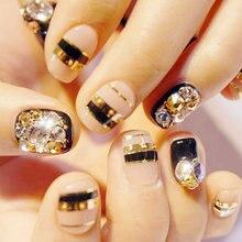 Mixed Size SS3-SS30 Gold Rose 1000pcs Nail Rhinestones Flat Back Non Hotfix Glitter Nail Stones,DIY 3d Nail Phones Decorations