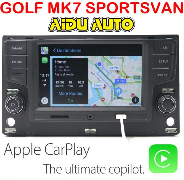 AIDUAUTO For VW Golf 7 MK7 VII Sportsvan MQB Touran Carplay 6.5  MIB Radio цена