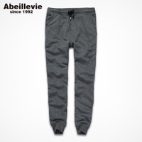 Abeillevie New Fashion Cotton Long Men S Pants Solid Casual Soft French Terry Pants Men Big
