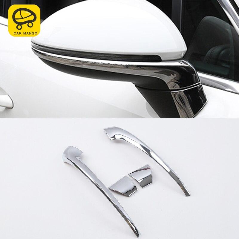 CARMANGO For Porsche Cayenne 2018 Auto Car Rearview Mirror Protector Trim Frame Exterior Accessories