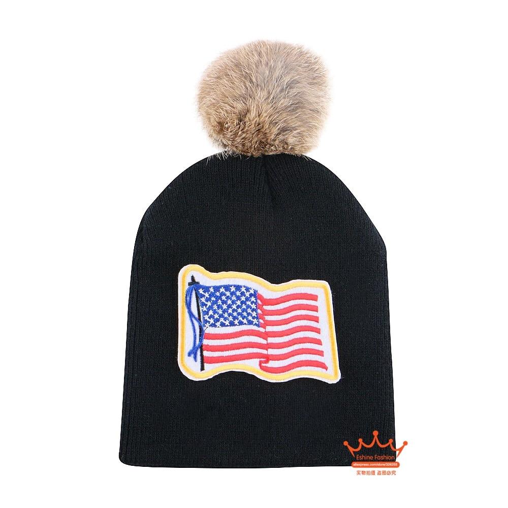 0-2 year old baby sports winter hat knitted cotton beanie cap crochet animal fur pompom ball brand hats girl boy children gorro