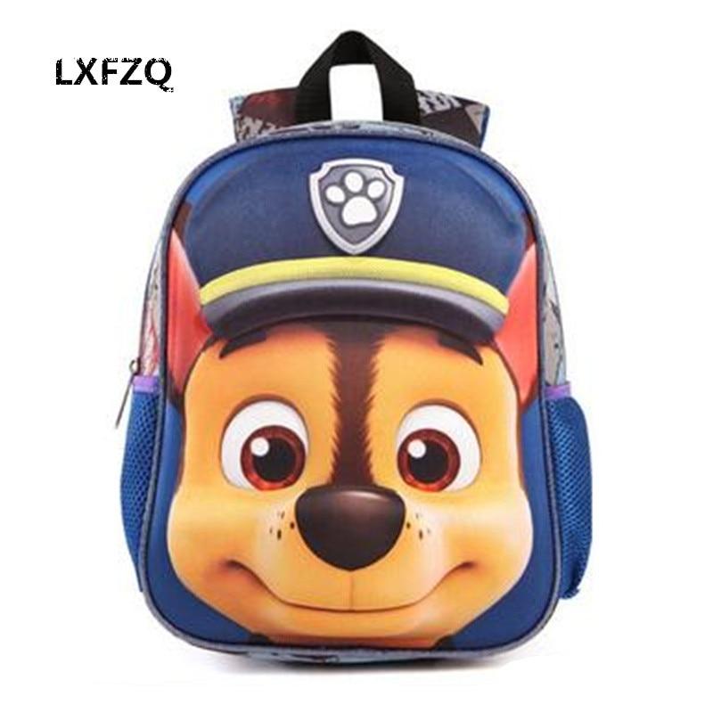 3D Sacs pour les filles à dos enfants Chiot mochilas escolares infantis enfants école sacs belle Satchel École sac à dos Bébé sacs