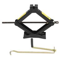 2T Black Tonne Heavy Duty Scissor Manual Car Jacks Tyre Wheel Replacemet Tool Quick Lift Crank