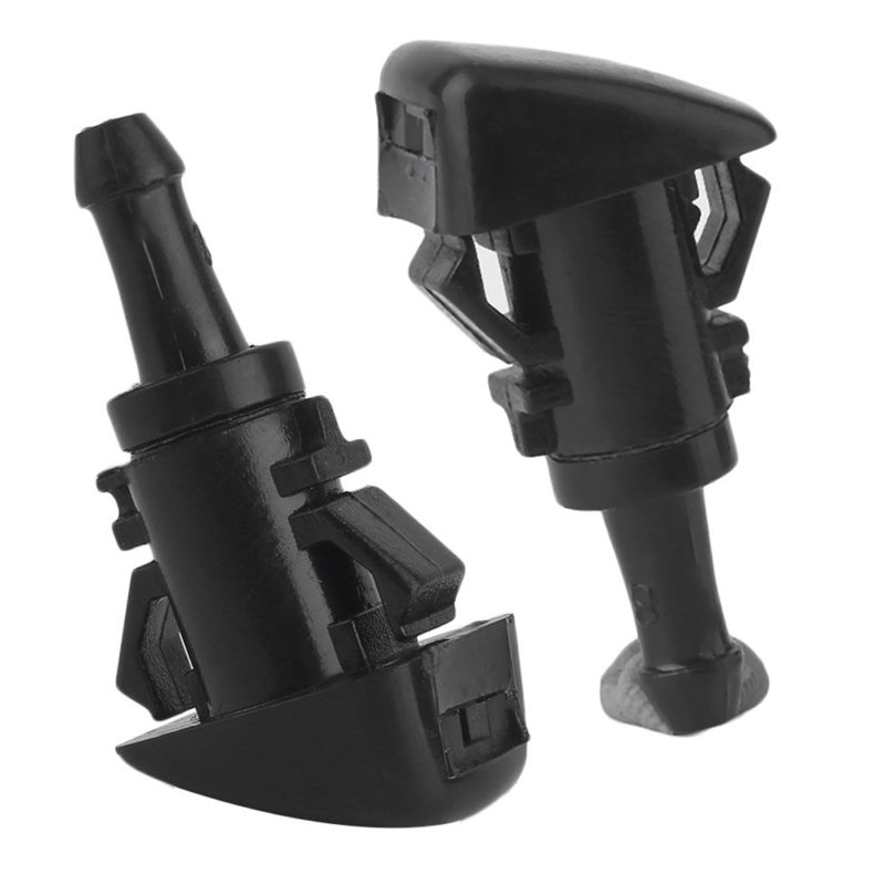 2pcs Black Efficient Car Windshield Washer Wiper Water Spray Nozzle Jet For Chrysler 300 GL 4805742AB