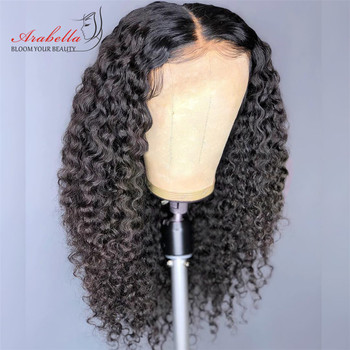 Closure Wig Brazilian Curly Hair 4*4 Wig Arabella Remy Hair Pre Plucked Wig With Baby Hair Lace Closure Human Hair Wigs
