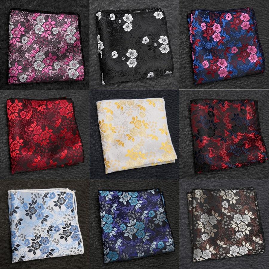Mens Cravat Luxury Jacquard Floral Tie For Men Gifts Paisley Pocket Square Towel Hankies Fashion Dress Handkerchief Accessories