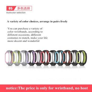 Mi bande 3 Bracelet bracelet Bracelet montre pour Mi band3 accessoires bracelet intelligent sport Silicone Bracelet pour mi bande 4 5