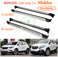 hottest running board nerf bar pedal side step for Opel Mokka,ISO9001 excellent factory ,aluminum alloy+ABS,promotion price