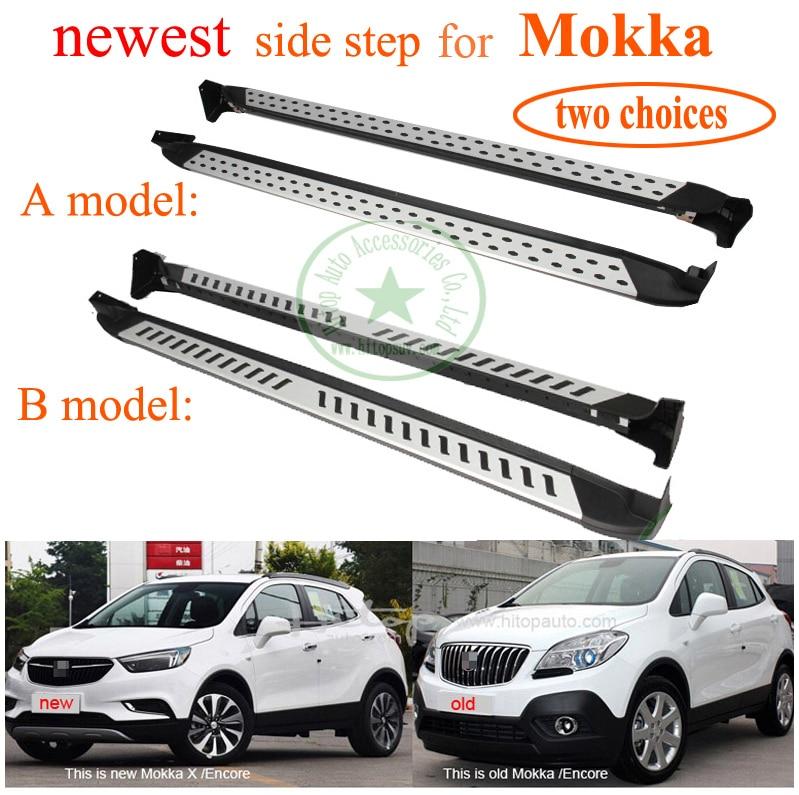 legforróbb futópados nerf bar pedál oldalsó lépés az Opel Mokka - Autóalkatrész