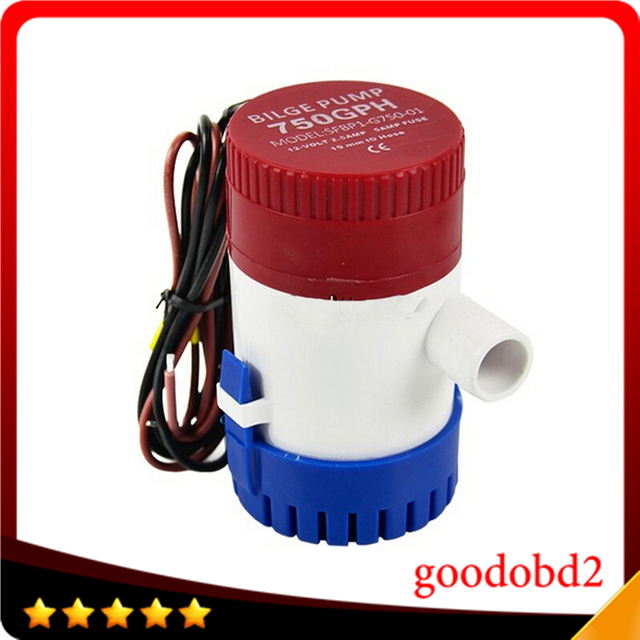 12V 750GPH Electric Bilge Pump  DC Submersible Solar Water Pump for Fountain Garden Irrigation Swimming Pool Cleaning Farming