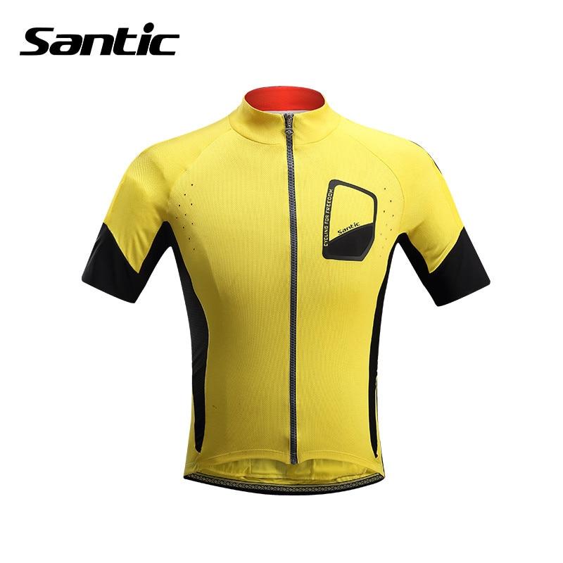 Santic Short Sleeve Cycling Jerseys Mens MTB Bike Jersey ropa ciclismo Mens Summer Cycling T Shirts