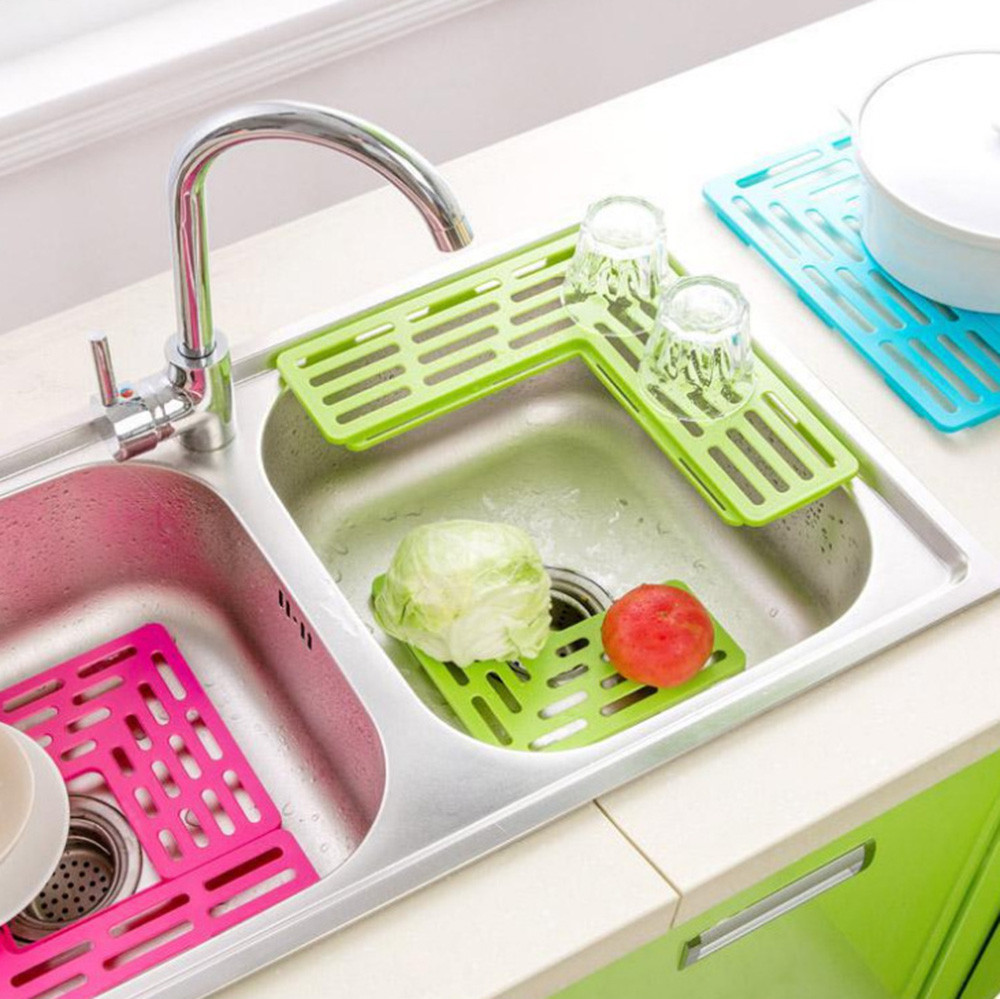 US $5.01 27% OFF|Dishes Sink Drain Kitchen Plastic Filter Plate Storage  Rack Pallets Drinkware Shelving Rack Drain Board Tableware Wash Cup M3-in  ...