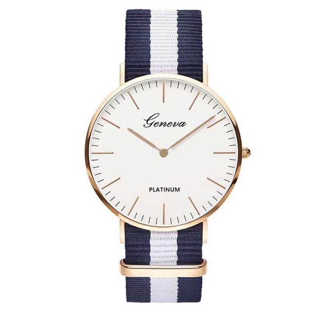 Classic Hot Sale Nylon strap Style Quartz Women Watch Top Brand Men Watches Fashion Casual Fashion Lovers Wrist Watch Relojes