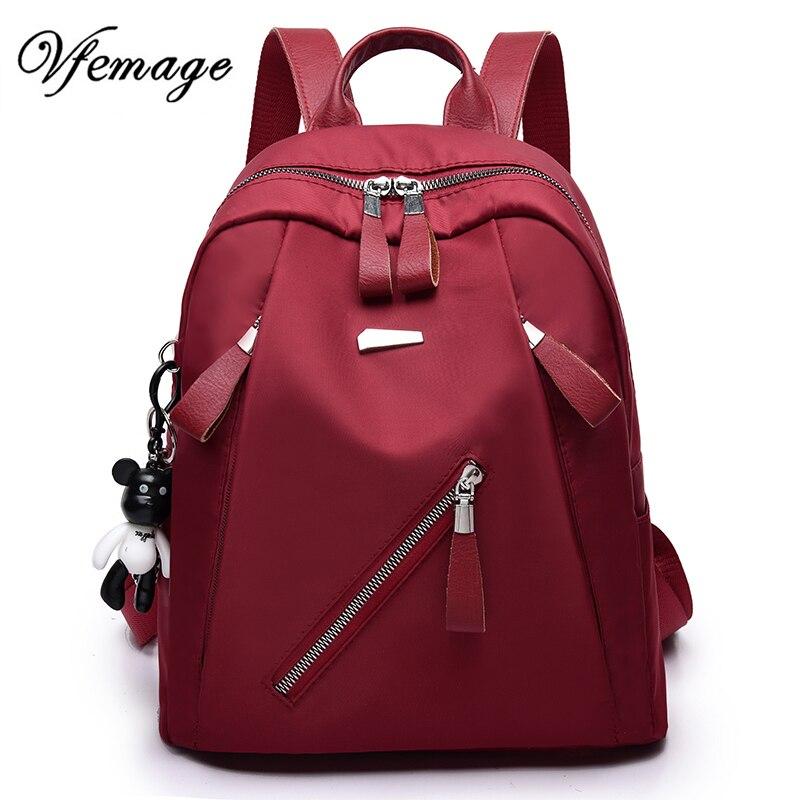 vfemage luxury new backpacks women nylon backpack fashion backpack for teenager girls multi