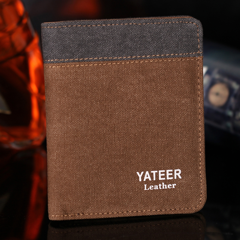 Men Wallets Coin Purse Wallets for Men with Checkbook Holder Soft Card Case Classic Canvas Mens Wallet Money Bag Purses