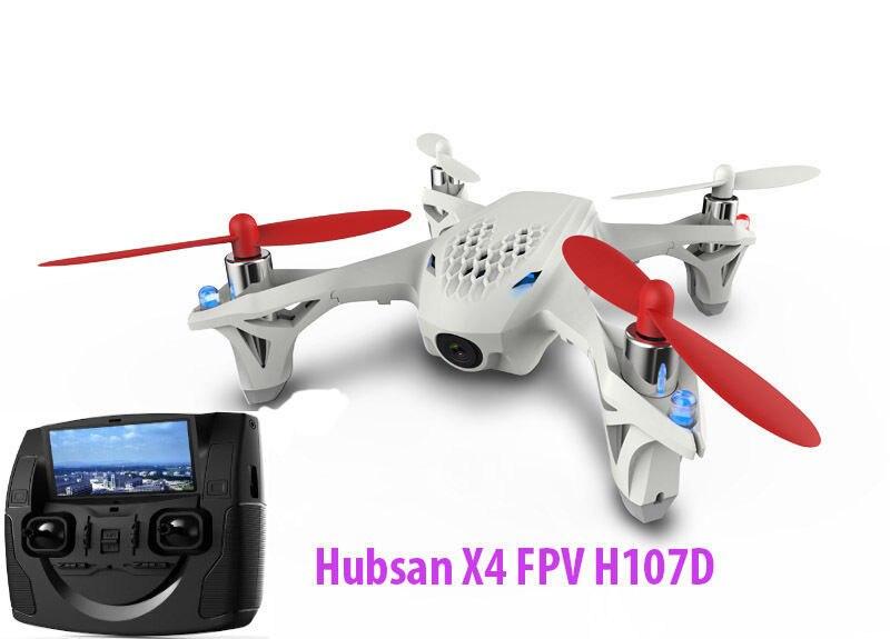 Drone quadrirotor Hubsan H107D FPV X4 5.8G 4CH 6 axes RC avec caméra FPV RTF