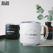 JOUDOO 350ML New 304 Stainless Steel Coffee Cup With Handle Office Thermos Water Portable Creative Spot Mug 35