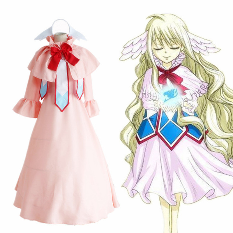Mavis Vermilion cosplay costumes Japanese anime Fairy Tail clothing ...