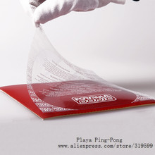 Adhesive plastic protective film for Table tennis rubber Ping pong protecting film for Non-Tacky rubbers