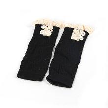 Европейская и американская мода; удобные детские вязаные кружевные сапоги для маленьких девочек; гетры с манжетами; гетры; детские гетры