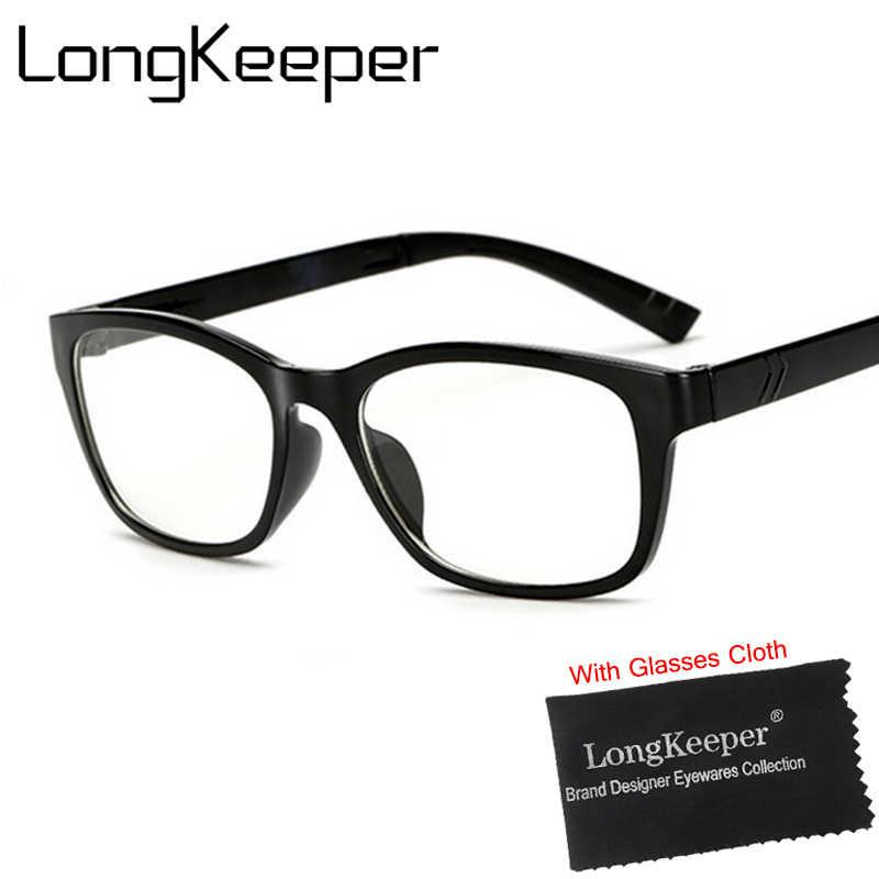 f9323e1284fd LongKeeper New Women Prescription Eyewear Trend Men Clear Glasses Brand  Women Spectacle Frame Vintage Optics Eyeglasses