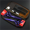 Purple Dragon Haircut Scissors Professional Hair Scissors Sets Barber Hairdressing Cutting Thinning Tijeras Peluqueria