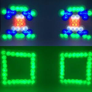 Image 2 - מכירה לוהטת נייד מוסיקה אוטומטי/קול Actived 128 led RGBW אורות כפול ראש לייזר שלב אפקט תאורת מועדון דיסקו Dj מסיבת בר