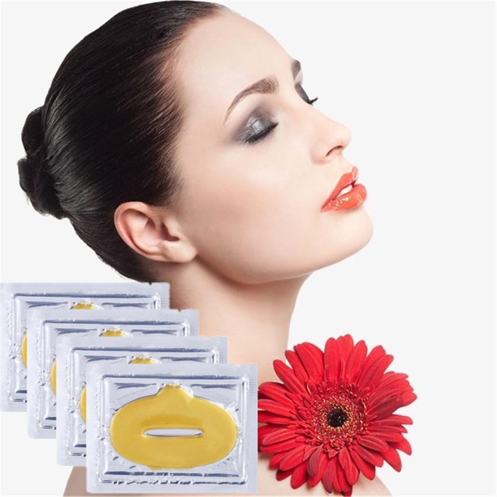 Love Thanks 1PC Moisture Lip Mask Long-Lasting Change Color Lipstick Gold Collagen Nonstick