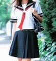 Japonés traje de marinero Niñas Alta escuela COSPLAY uniforme de estudiante, corto/Largo-manga JK uniforme personalizado ropa de vestuario