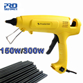 Prostormer 150W/300W Hot Melt Glue Gun EU Plug Adjustable Professional Copper Nozzle Heater Heating Wax 11mm Glue stick
